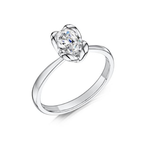 0.4 Carat GIA GVS Diamond solitaire 18ct White Gold Oval diamond Engagement Ring, MWSS-1178/040